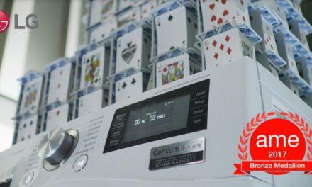 CONSTRUCTING HOUSE OF CARDS ON RUNNING WASHING MACHINE EARNS LG PRESTIGIOUS INDUSTRY AWARD