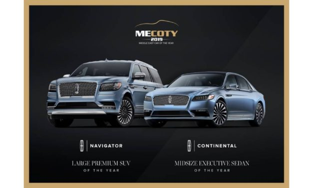 Lincoln Navigator and Continental honored during sixth annual Middle East Car of the Year awards