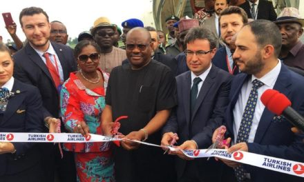 Turkish Airlines added Nigeria's Port Harcourt to its flight network.