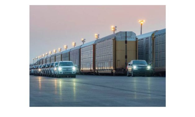 Development Continues on Built Ford Tough All-Electric F-150; Watch Prototype Tow More Than 1 Million Pounds