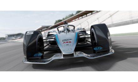 The Mercedes-Benz EQ Silver Arrow 01 Formula E Car Races into GITEX's SAP Stand