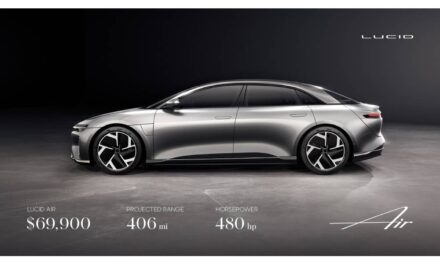 Lucid Motors Expands Luxury EV Lineup with Its Lucid Air Model, Featuring 406 Miles of Range and 480 horsepower