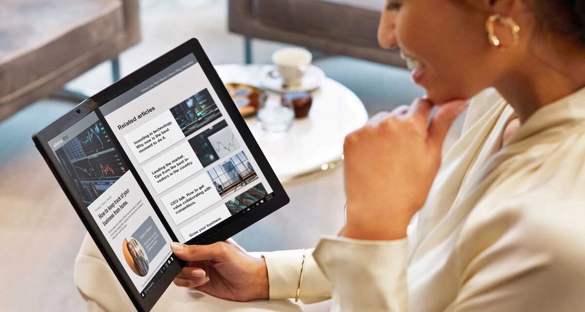 LENOVO BRINGS WORLD'S FIRST FOLDABLE PC TO SAUDI ARABIA