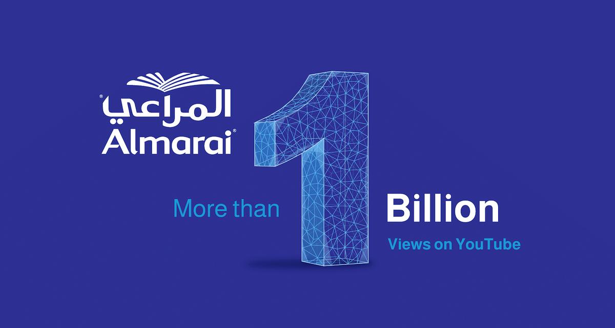 Almarai, 1st brand to break 1 billion views on YouTube