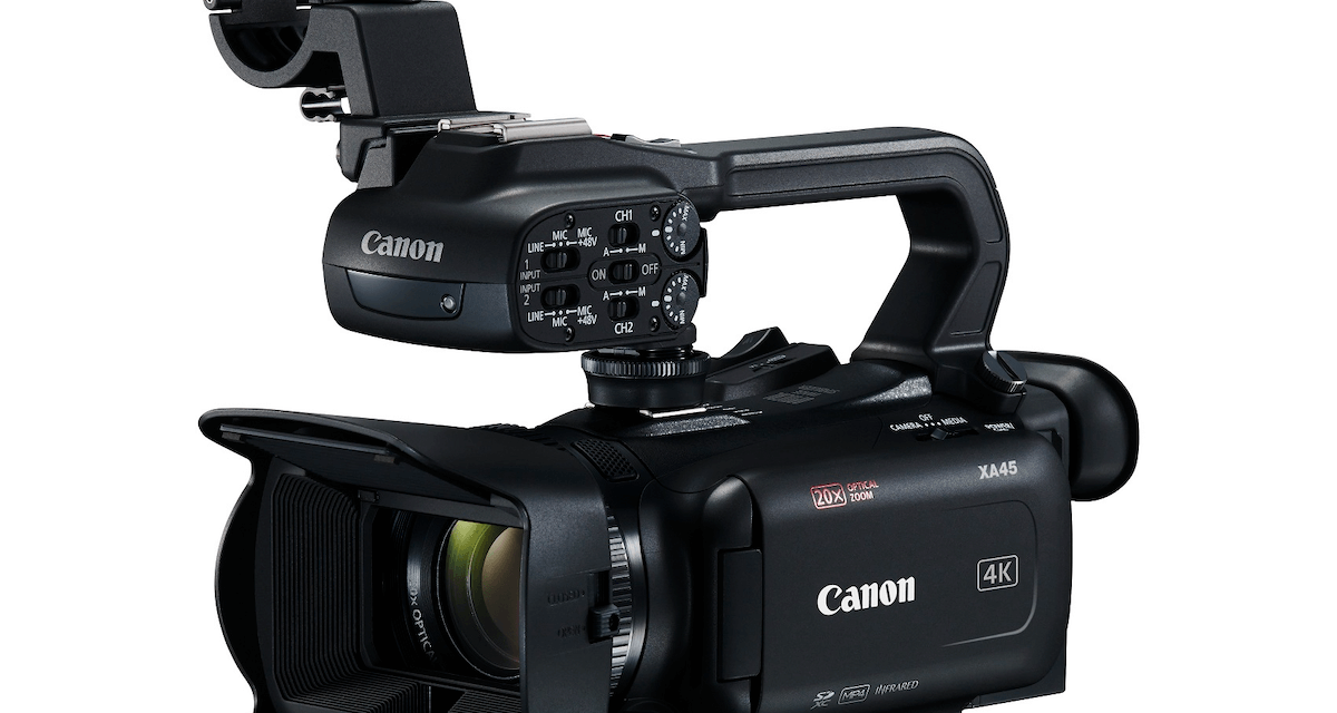Canon XA45 now available in EMEA – a compact 4K camcorder with professional recording capabilities