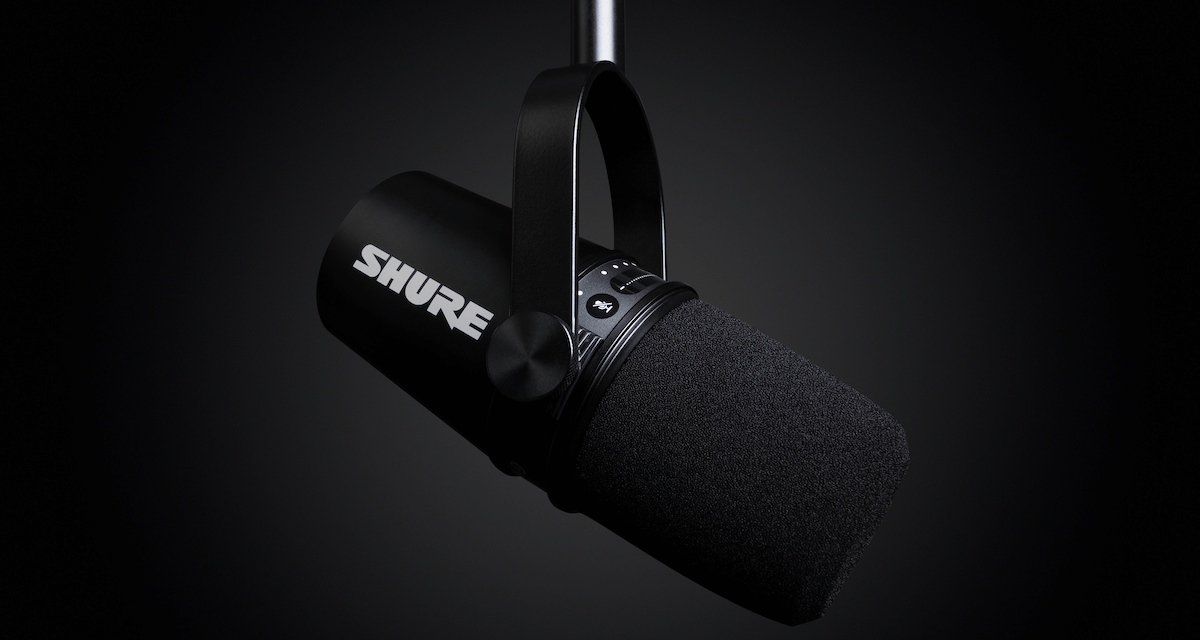 SHURE MV7 PODCAST MICROPHONE TAKES RECORDING AND STREAMING TO THE NEXT LEVEL