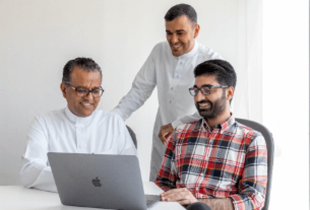 Three of four co-founders of Hazen.ai, a Saudi maker of intelligent traffic systems. From left: Dr Saleh Basalamah, Dr Anas Basalamah and Muhammad Khurram Amin. Not pictured: Sohaib Khan, CEO and Co-Founder.