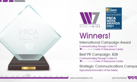 GCC Agency W7Worldwide Announced Winner of Best International Campaign PRCA MENA Awards 2021