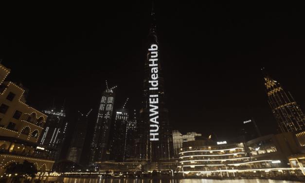 HUAWEI IdeaHub lights up the world's tallest building, Burj Khalifa
