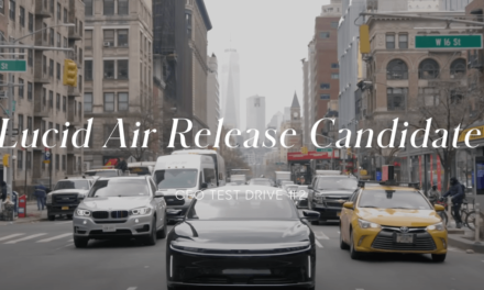 Lucid Motors CEO drives Lucid Air on the streets of NYC #lucidair