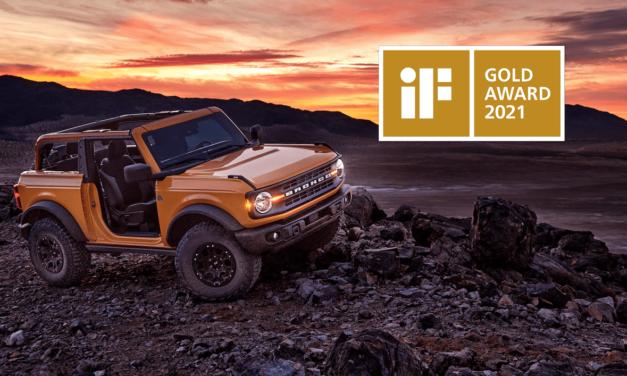 All-New Ford Bronco Earns Prestigious iF Design Gold Award 2021; Jury Says Pragmatic, Emotional Design 'Redefines The Lifestyle SUV'