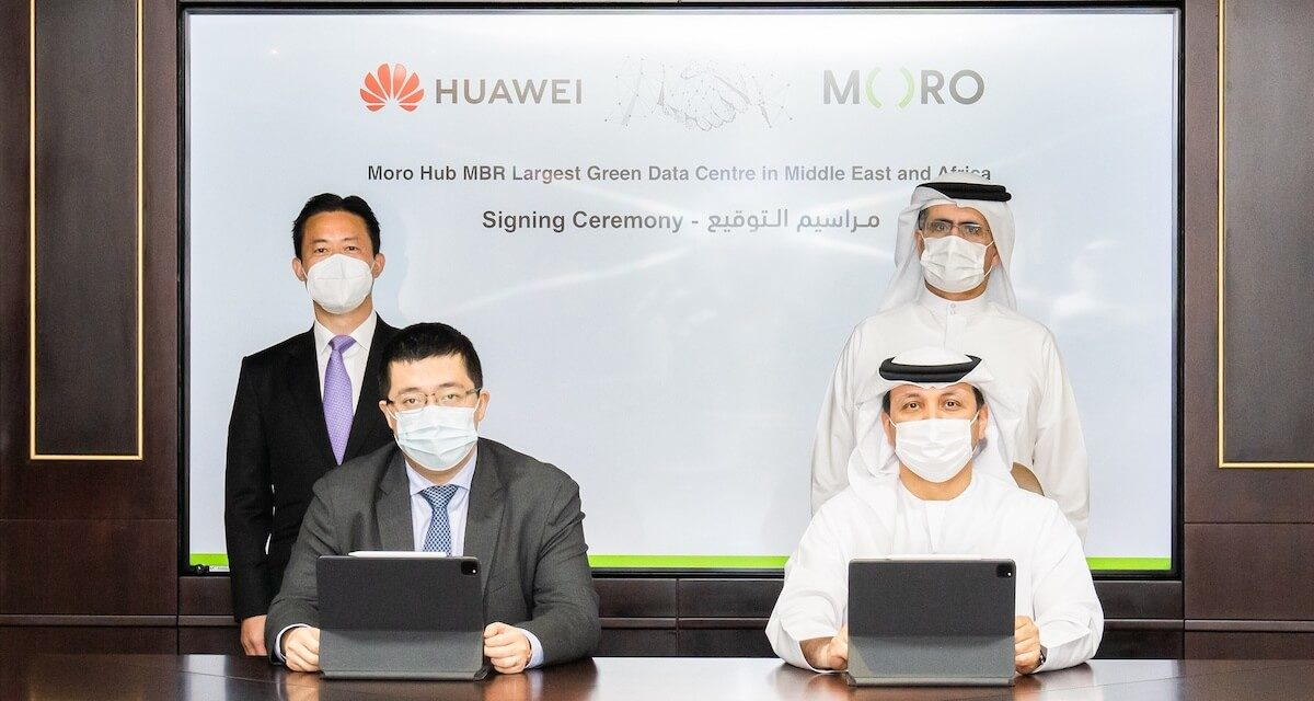 Moro Hub signs an agreement with Huawei to build the First Phase of the largest solar-powered Data centre in the Middle East and Africa