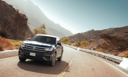 The new Volkswagen Teramont showcased at SAMACO Saudi showrooms