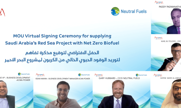 ACWA POWER SIGNS MoU WITH NEUTRAL FUELS TO SUPPLY SAUDI ARABIA'S RED SEA PROJECT