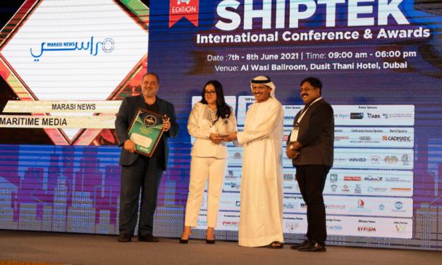 "Marasi News retains the title of the ""Best Maritime Media"" at Shiptek Awards 2021"