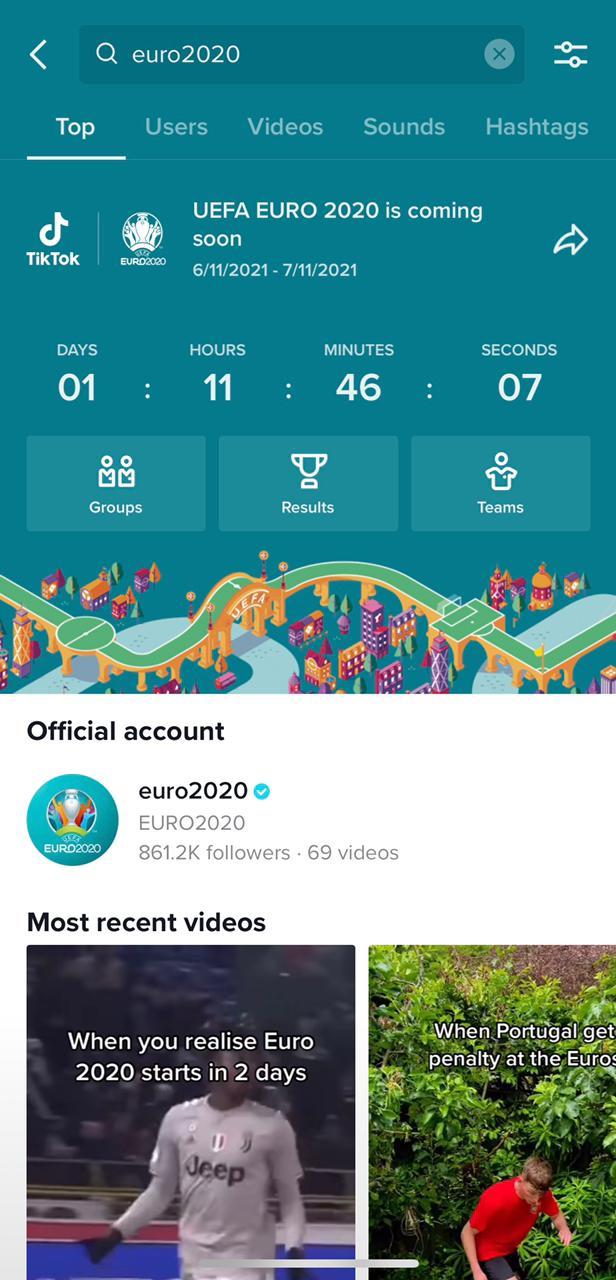 TikTok x Euro Cup Image