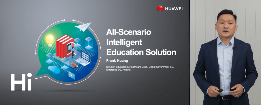 Frank Huang, Director of the Global Education and Healthcare Industry of Huawei Enterprise BG, introduced Huawei's all-scenario education solution