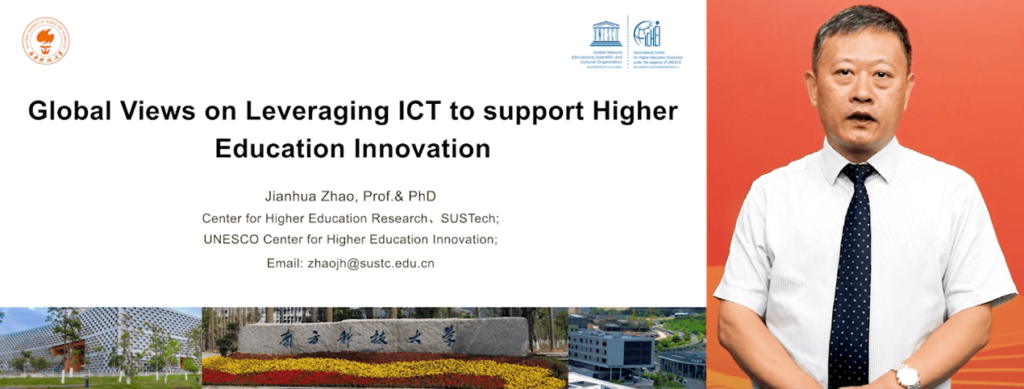 Prof. Zhao Jianhua, senior expert at the International Centre for Higher Education Innovation under the Auspices of UNESCO (UNESCO-ICHEI)