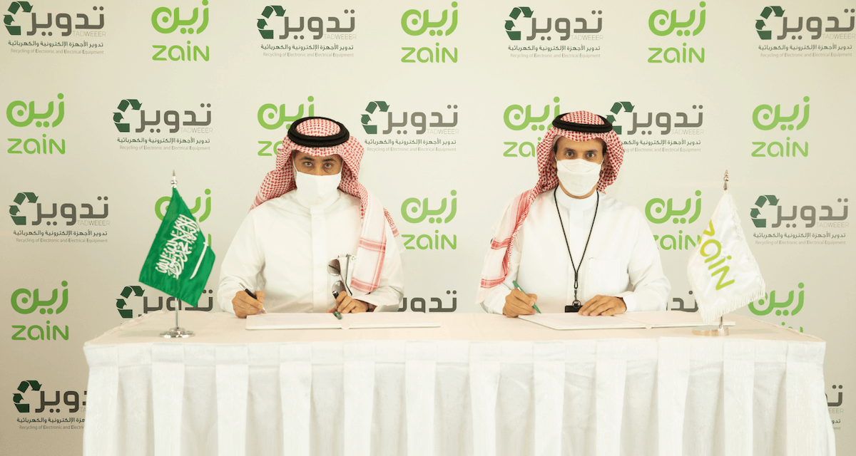 Zain KSA signs MoU with 'Tadweer' for recycling electronic waste